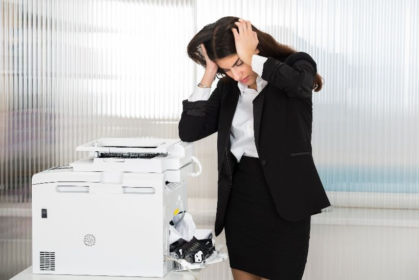 Dealing With Common Office Tech Problems Including Copier Repair Laser Printer Printer Stress Images