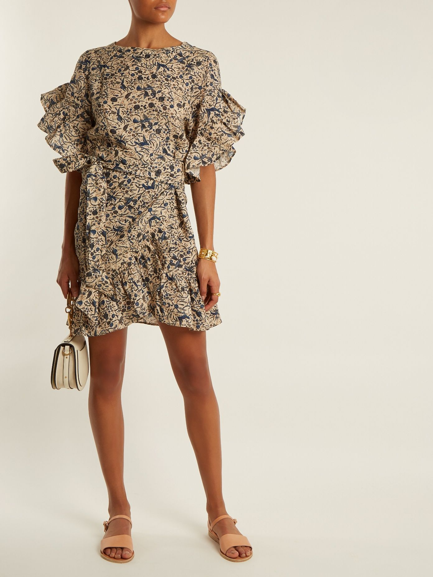 41da1d8feae Click here to buy Isabel Marant Étoile Delicia ruffle-trimmed linen wrap  dress at MATCHESFASHION.COM