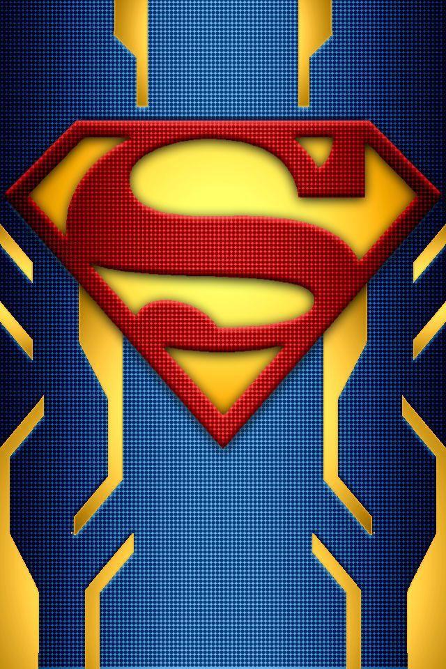 Superman logo wallpaper chrome textured steel suede - Symbole de superman ...