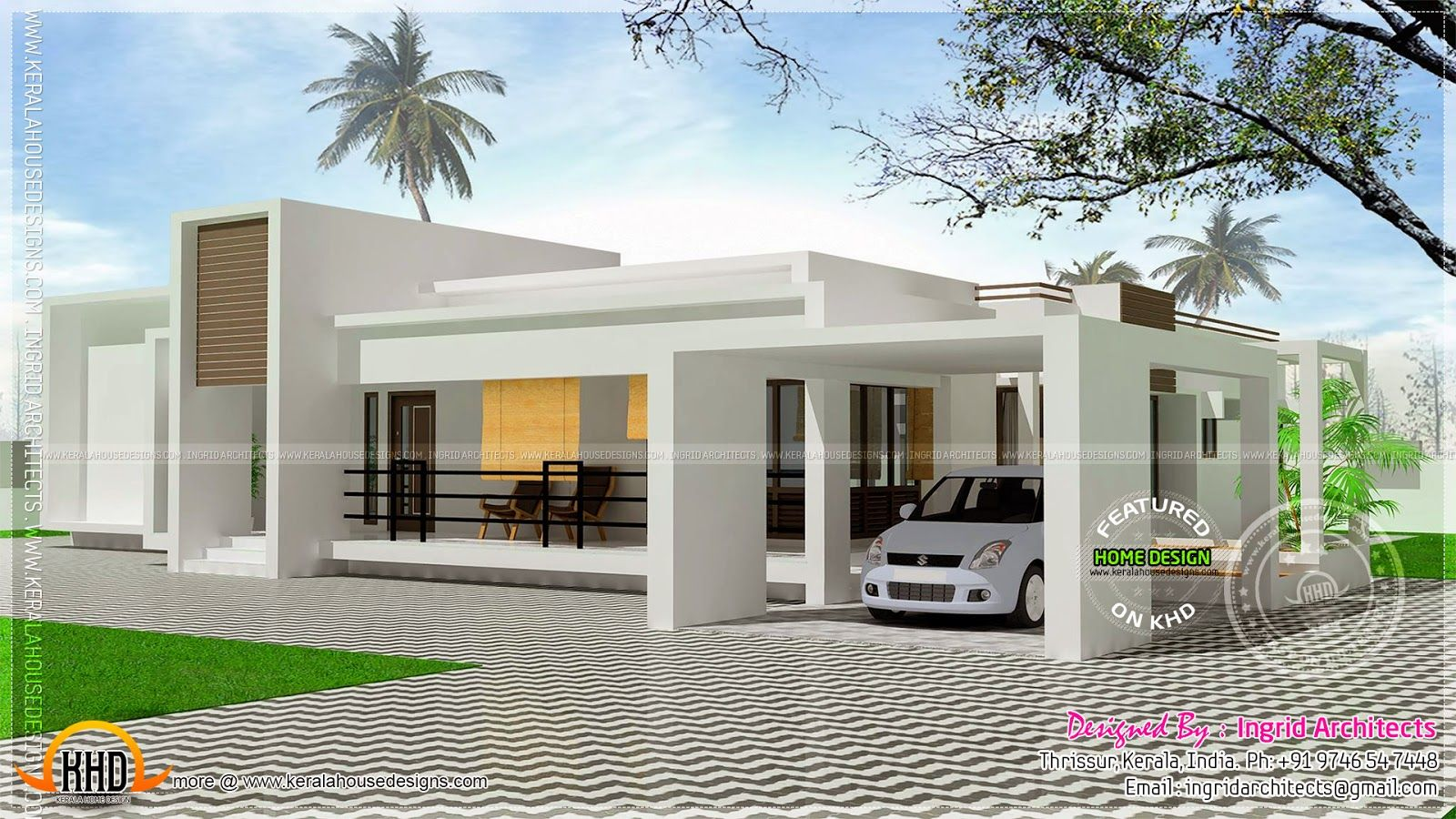 Enjoyable inspiration single story house plans with - Single story 4 bedroom modern house plans ...