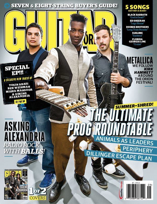 Aim Guitar Graduate Tosin Abasi Animals As Leaders Is Featured Front And Center On The Cover Of Guitar Player Magazine Guitar News Guitar Magazine Guitar