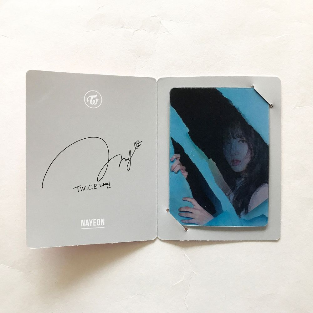TWICE 2nd Album PAGE TWO Cheer Up Lenticular Card Sana Photo Card K-POP 30
