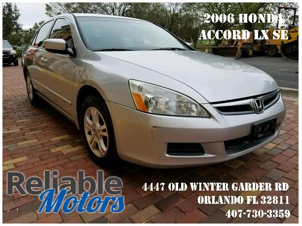 06 Honda Accord LX SE,Manual Transmission,2.4L Engine,Clean Title,