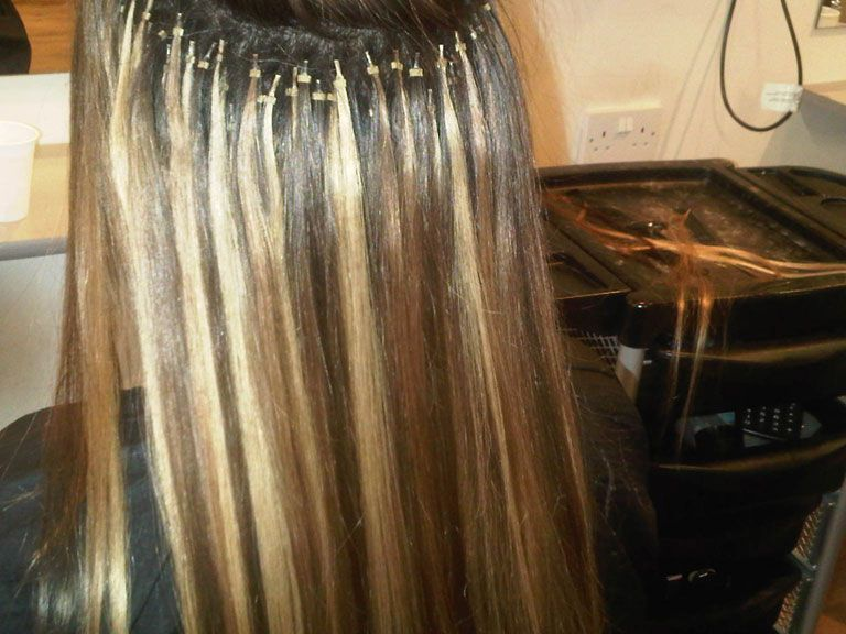 Availablecolors 1boffblack 2brown 6lightbrown 613 extensions micro ring easy way to add highlights pmusecretfo Gallery