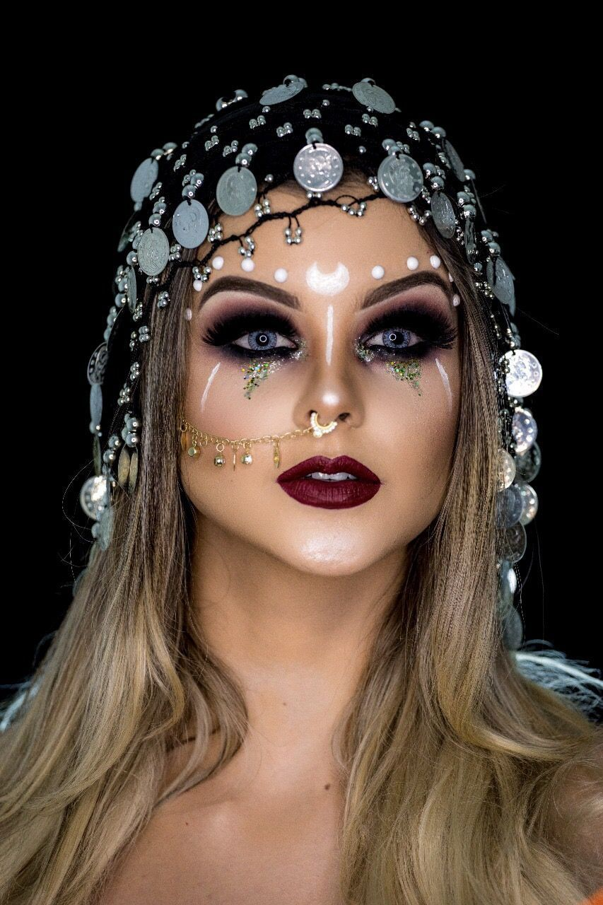 Fortune Teller Halloween Makeup #ad # Deco2 – Peinados simples – Nuevas ideas