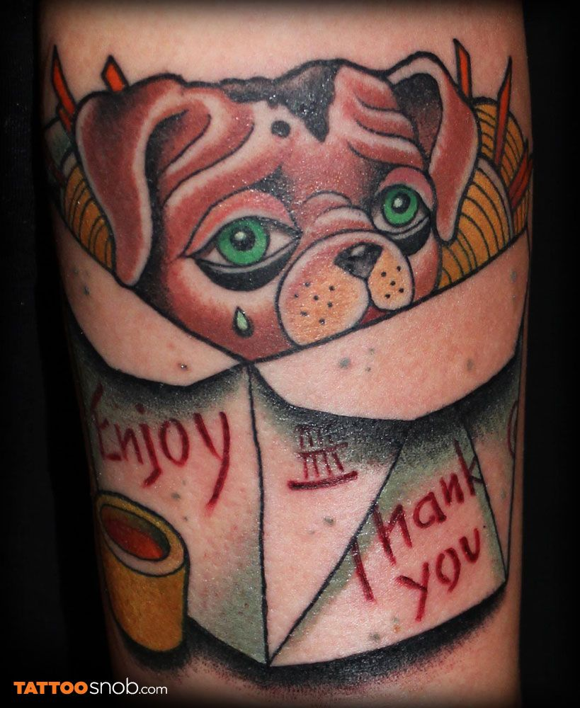 Vegan tattoo by Sebastian Domaschke Vegan tattoo, Puppy