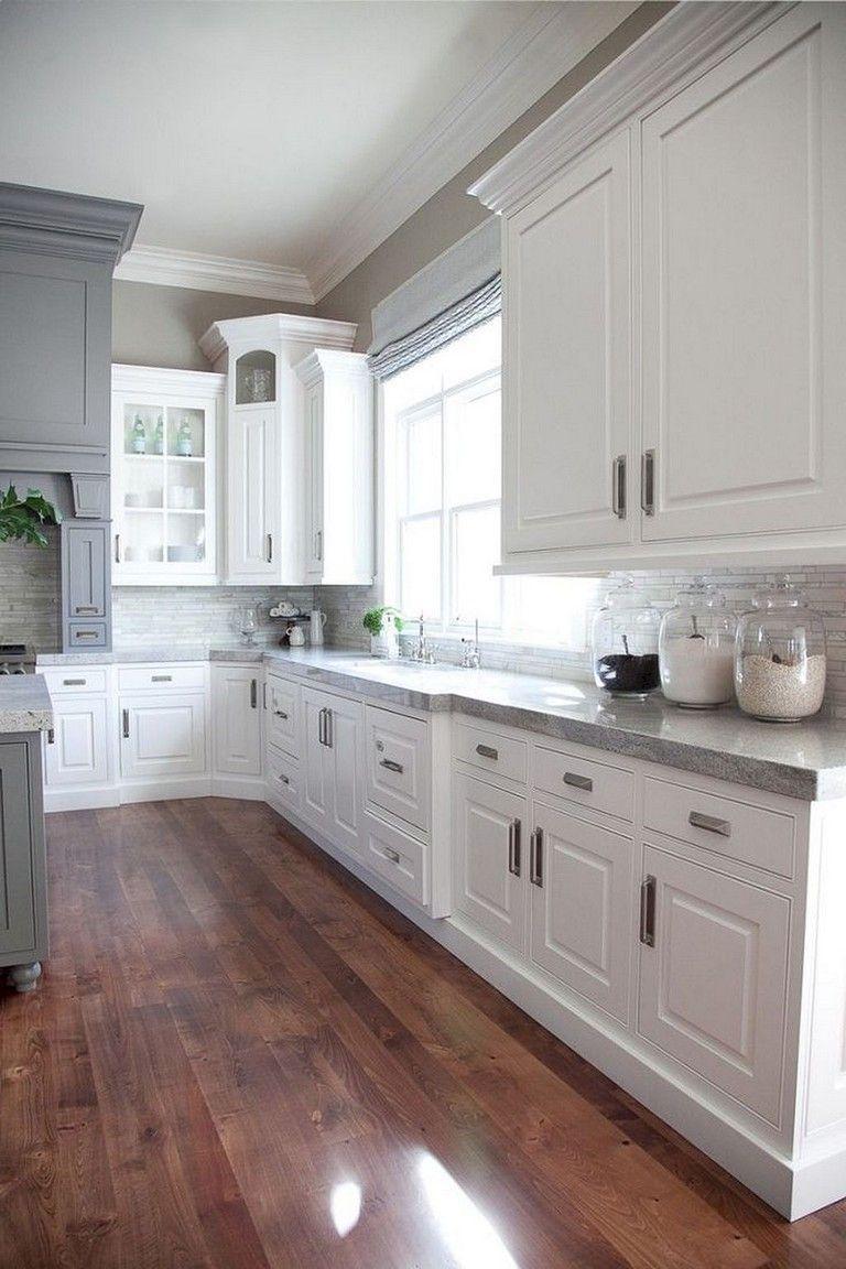 88+ Top Farmhouse Gray Kitchen Cabinet Design Ideas images