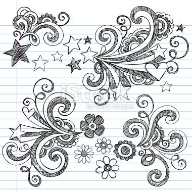 Hand-Drawn Sketchy Notebook Doodle Flowers Royalty Free Stock ...