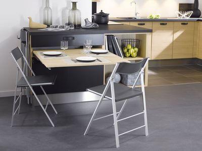 Petite cuisine 12 astuces gain de place table for Table bar escamotable