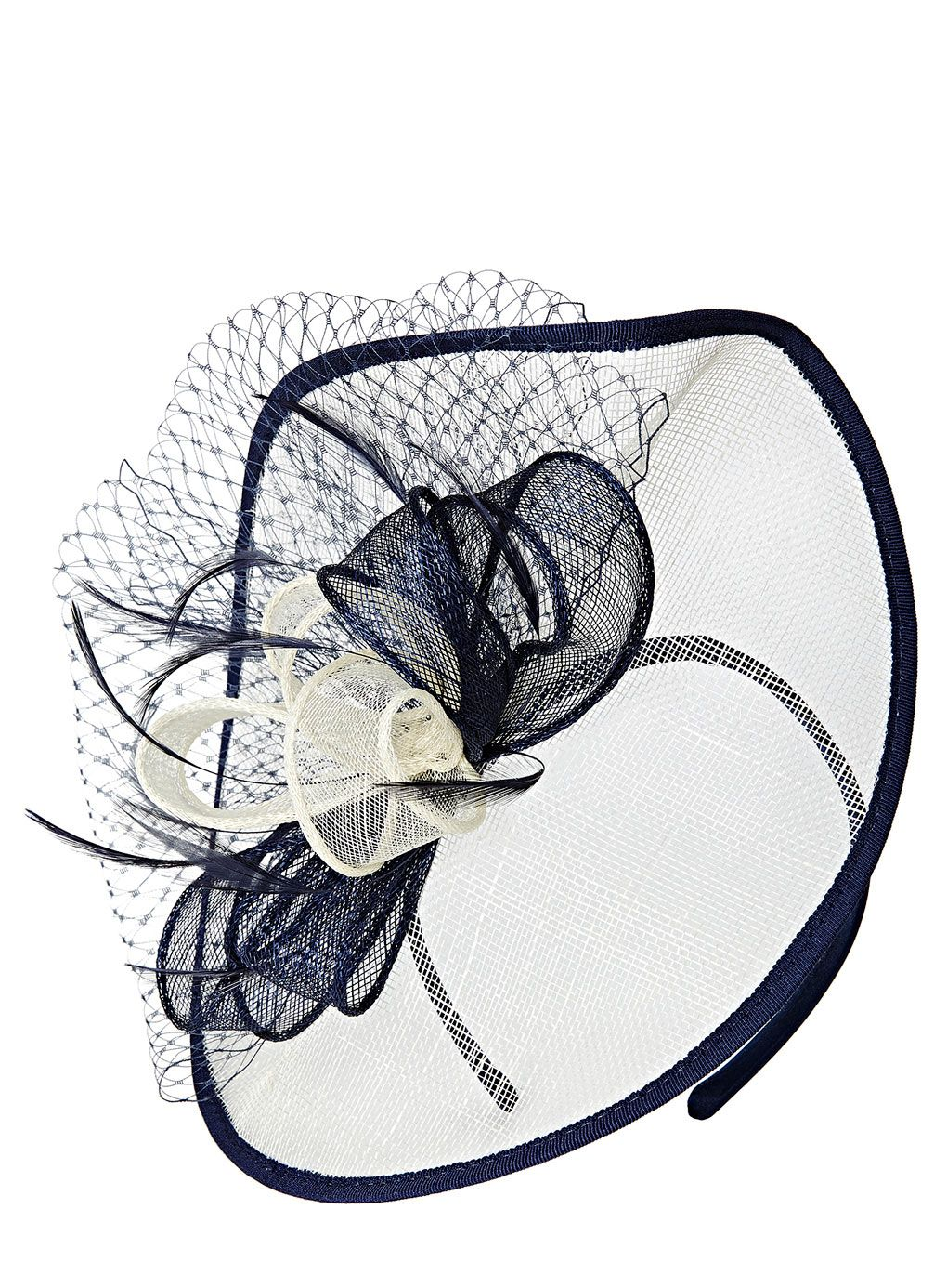 Blue White Folded Bow Disc Fascinator Http Www Weddingheart Co
