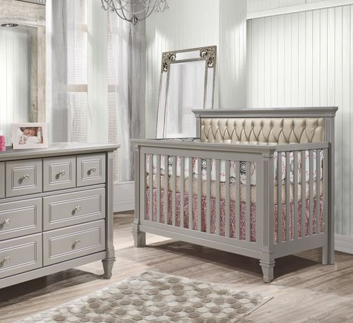Get A Sophisticated Nursery With An Upholstered Crib