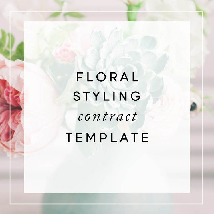 Floral Design Styling Contract Template Template - contract template
