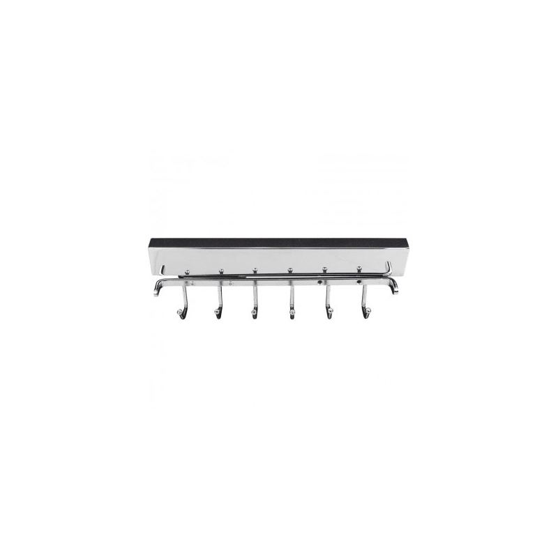 Hardware Resources 295B-PC Chrome Six Hook Pull Out Belt Rack