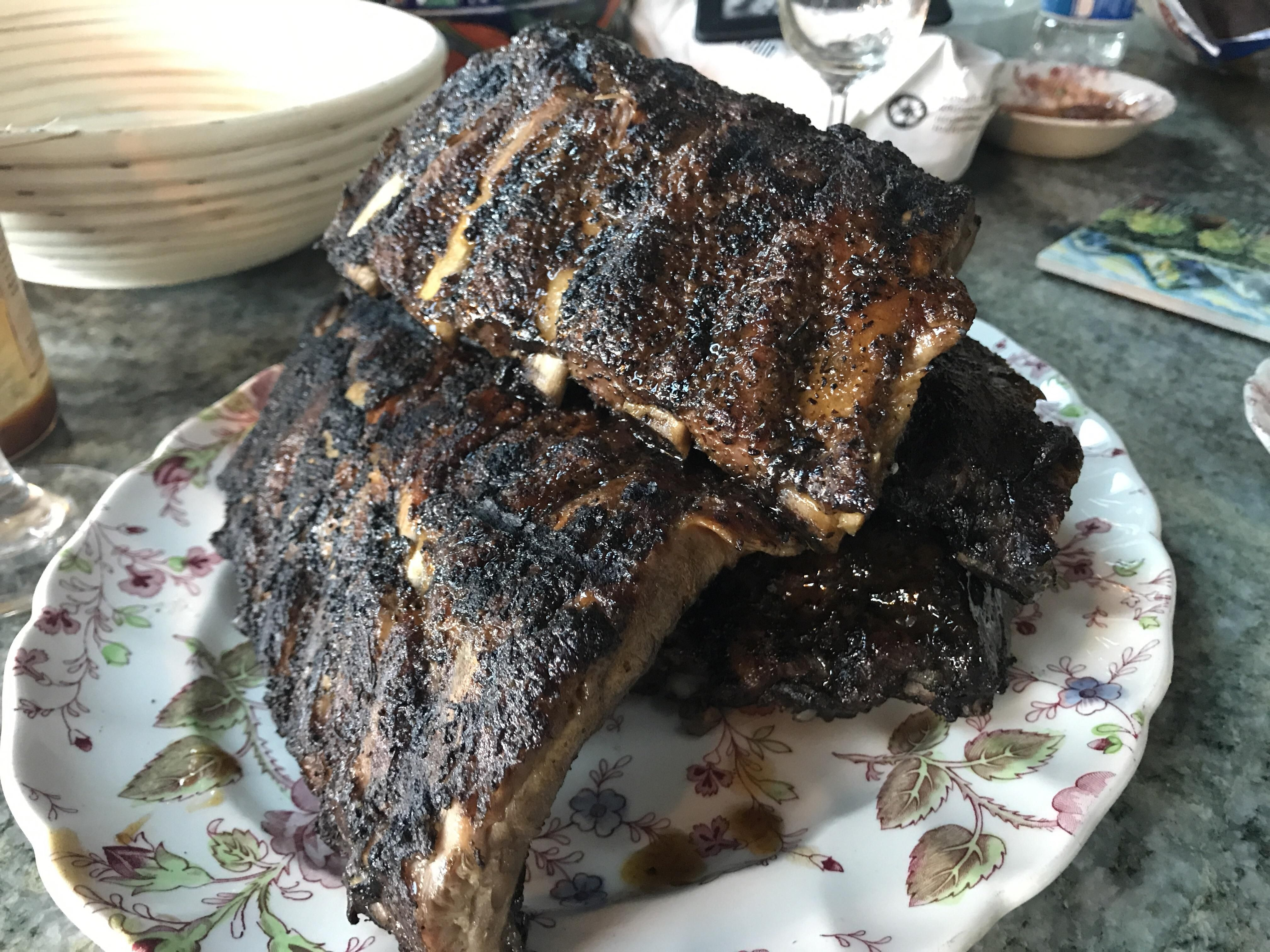Homemade Grilled And Smoked Pork Ribs Recipes Food Cooking Delicious Foodie Foodrecipes Cook Recipe Health Smoked Pork Ribs Food Pork Ribs