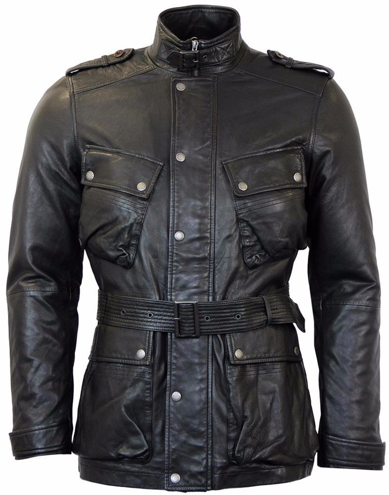Pretty Green  Cardale  Belted Black Leather biker Style Jacket Brand New  Superb  PrettyGreen  BikerJackets 92404be525d0