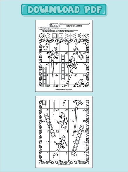 Lizards and Ladders game template | Blackline Masters ~ Templates ...