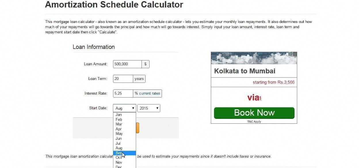 interest rate schedule calculator