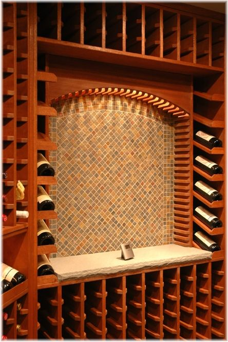 Interior designer architect builder of custom built passive naturally cooled solid mahogany wood wine cellar, Westchester NY.