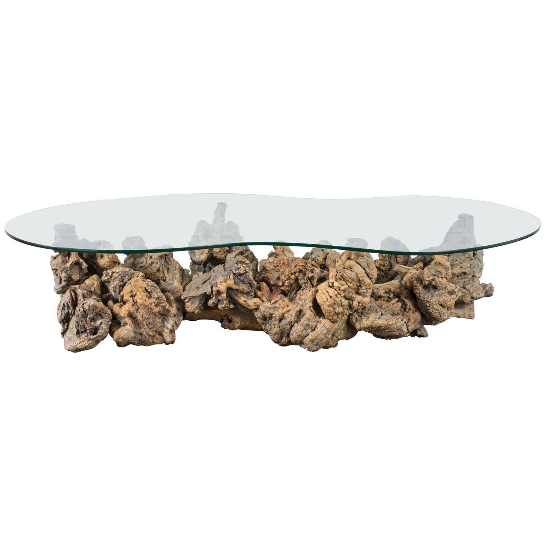 vintage mid century driftwood coffee table driftwood coffee table