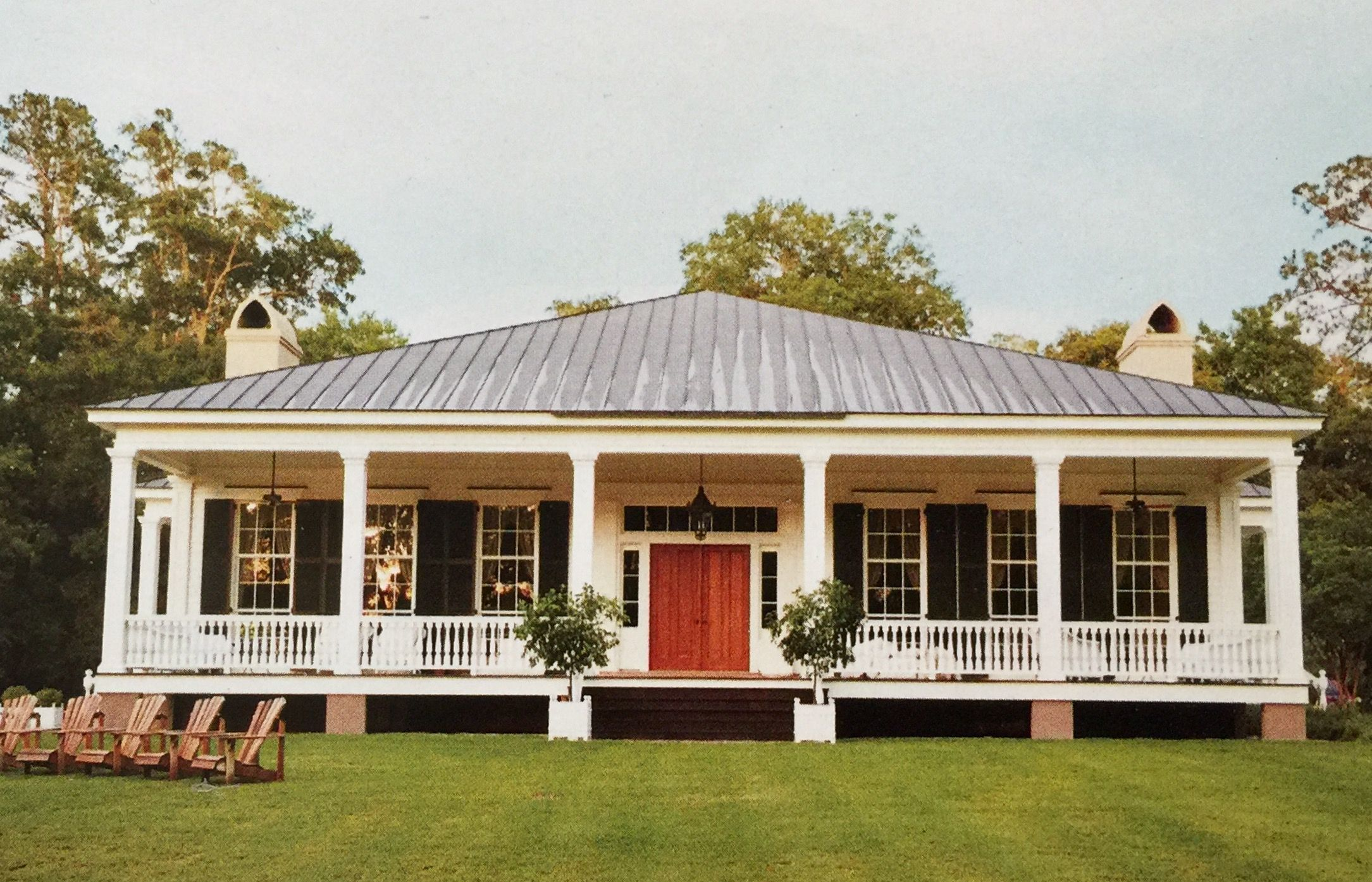 Country Southern Greek Revival House Plans