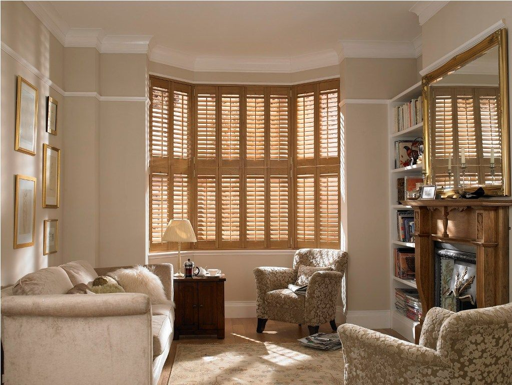 Decorative Arm Chairs Cafe style shutters, Bay window