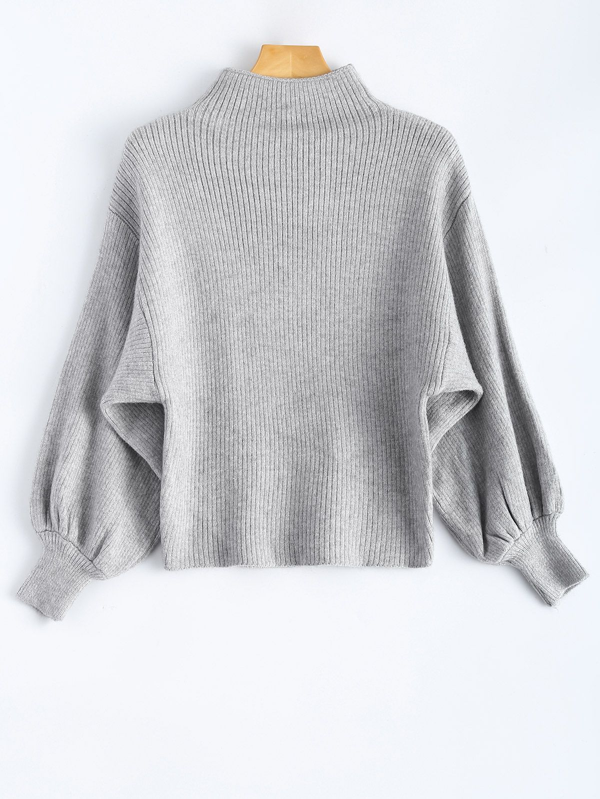 cc03a5ed2788bd Puff Sleeve Mock Neck Sweater | SWEATERS & CARDIGANS | Sweaters ...
