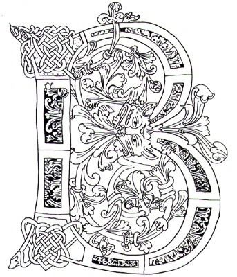 Gorgeous Celtic B Bokstaver Alfabetet
