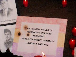 26 de junio de 2010: Ese sábado celebramos en la Puerta del Sol una concentración en la que encendimos cientos de velas en recuerdo de los represaliados por el franquismo.