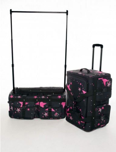 Dance Bag With Garment Rack Alluring Pink Star Medium Costume Dance Bagrac N Roll  Competition Dance
