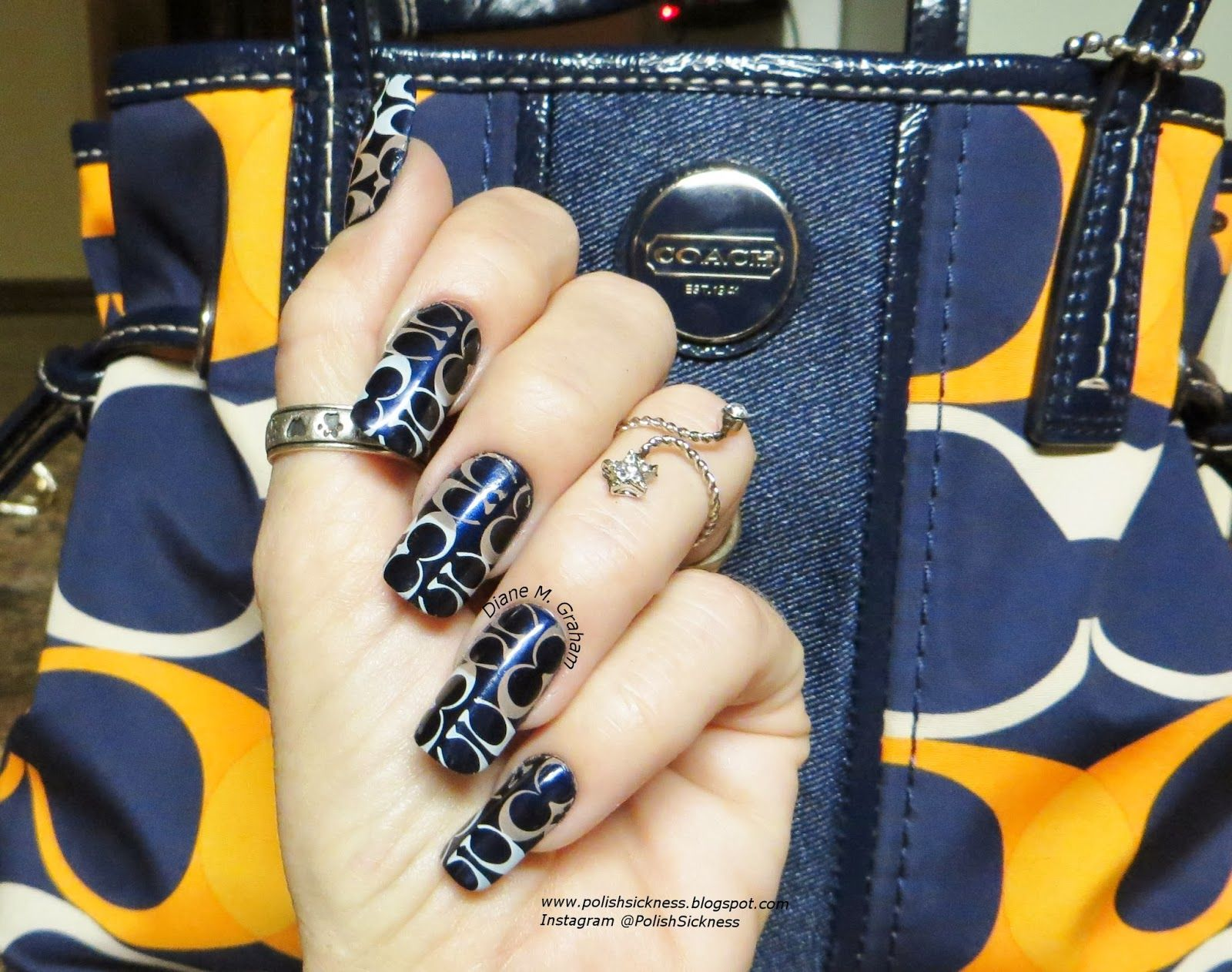 Coach Nails Smatching My Purse Nail Nail Manicure And Pretty Nails
