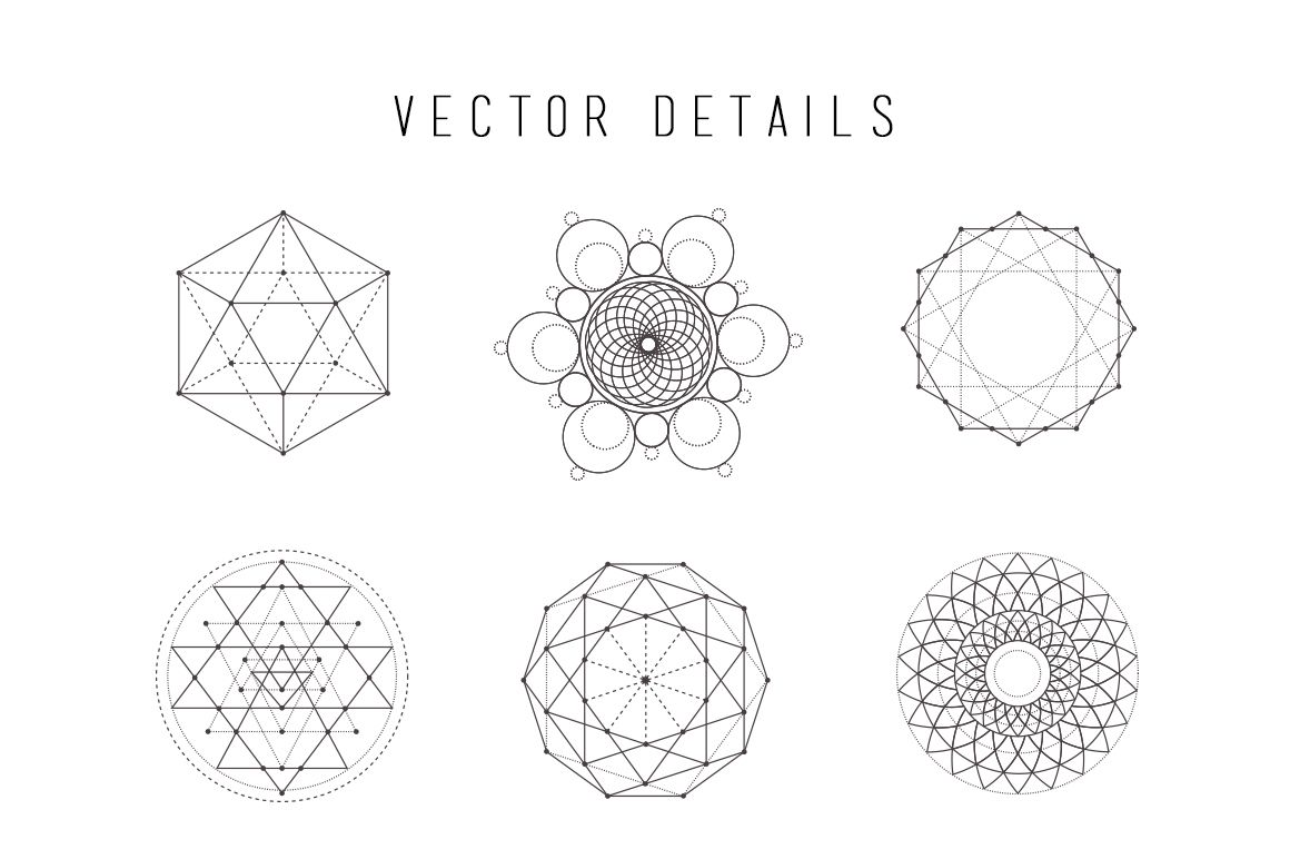 Sacred Geometry Vector Set Vol. 3 | Creative, Design and Core values