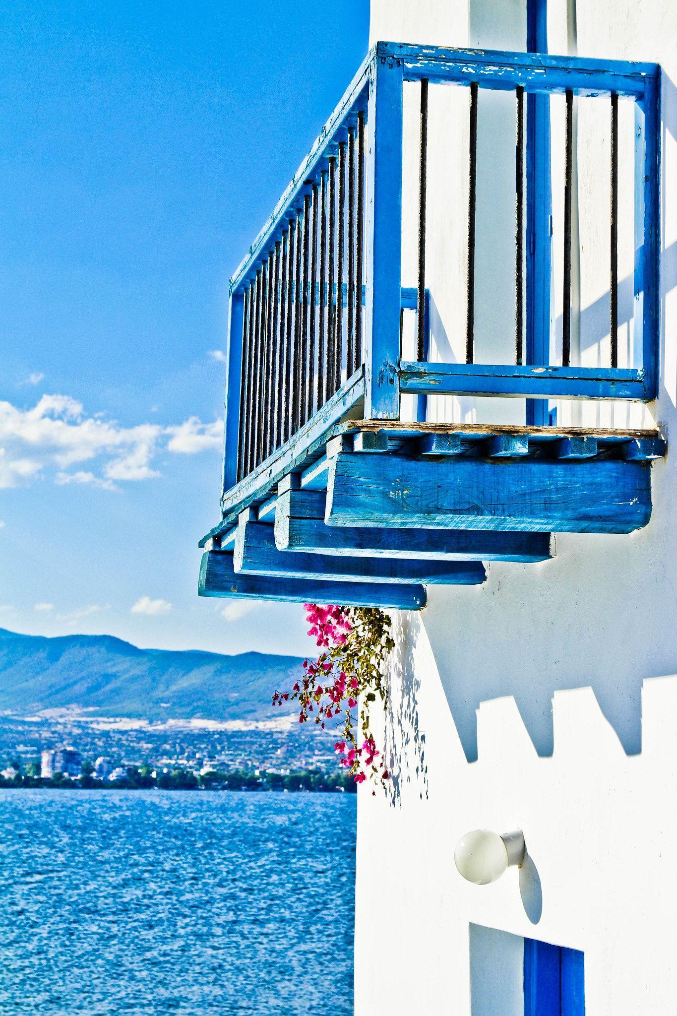 summer balkony - null