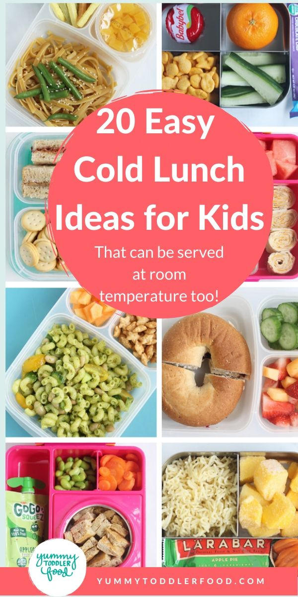20 Easy Cold Lunch Ideas For Kids That Work At Room Temp Recipe In 2020 Kids Lunch Cold Lunch Recipes Cold Lunches