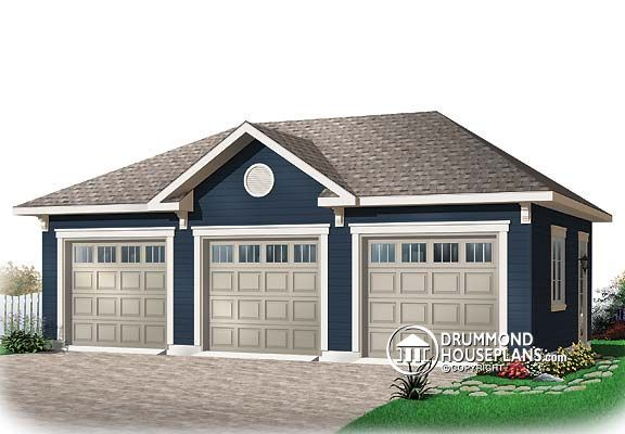 Garage Plan W3982 Images Front Garage Plan 3 Car Garage Plans Garage Floor Plans