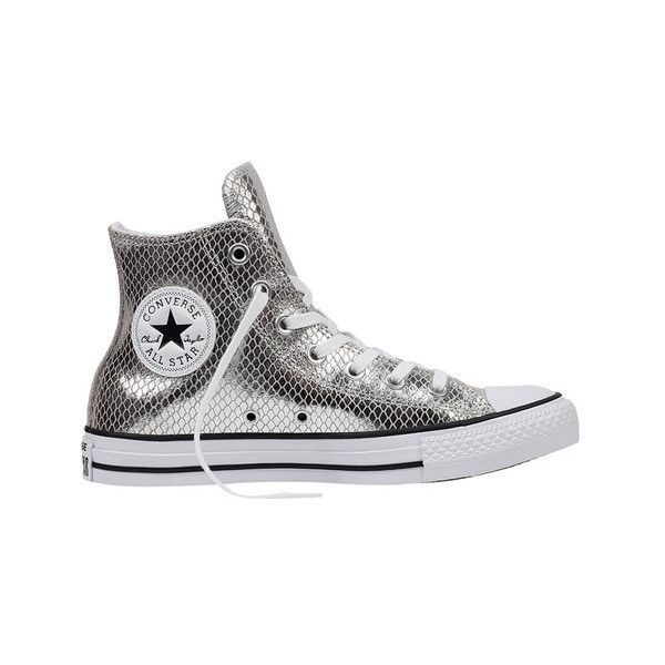252091c3a6a Women s Converse Chuck Taylor All Star Metallic Snake Hi Sneaker ( 68) ❤  liked on