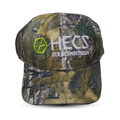 HECS StealthScreen Cap Mossy Oak Country Camo invisible invisibility cloak electromagnetic cloaking device camouflage hunting hunt hunter