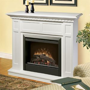 Dimplex Caprice White Electric Fireplace Mantel Package Dfp4743w Small