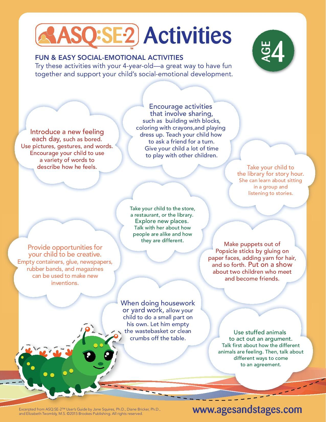 Age 4 Social Emotional Activities