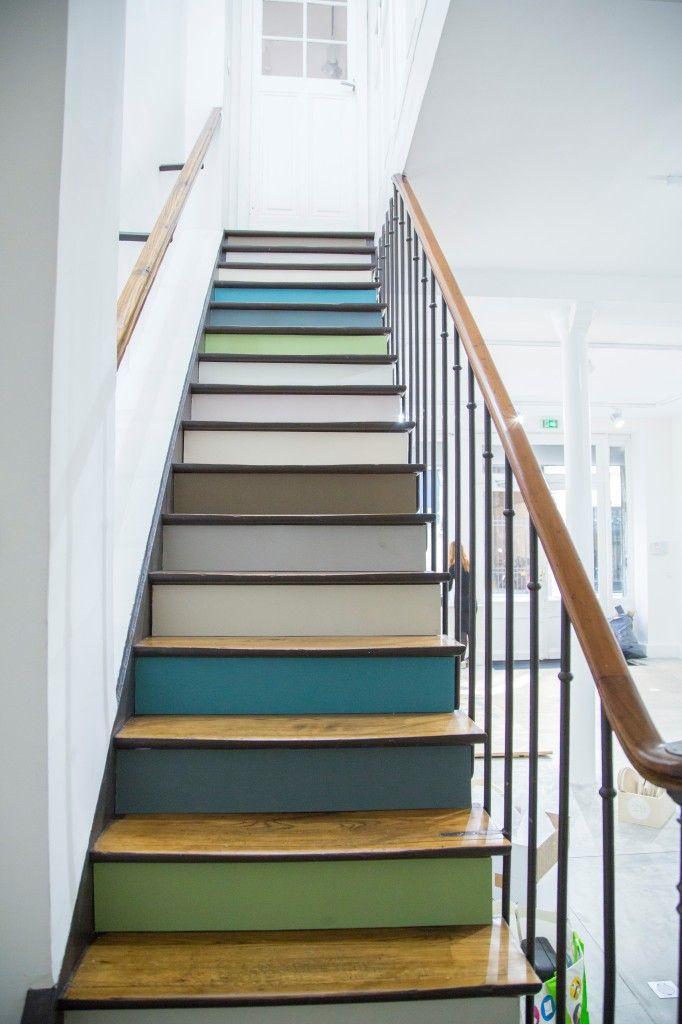 et si on peignait les escaliers maison pinterest. Black Bedroom Furniture Sets. Home Design Ideas