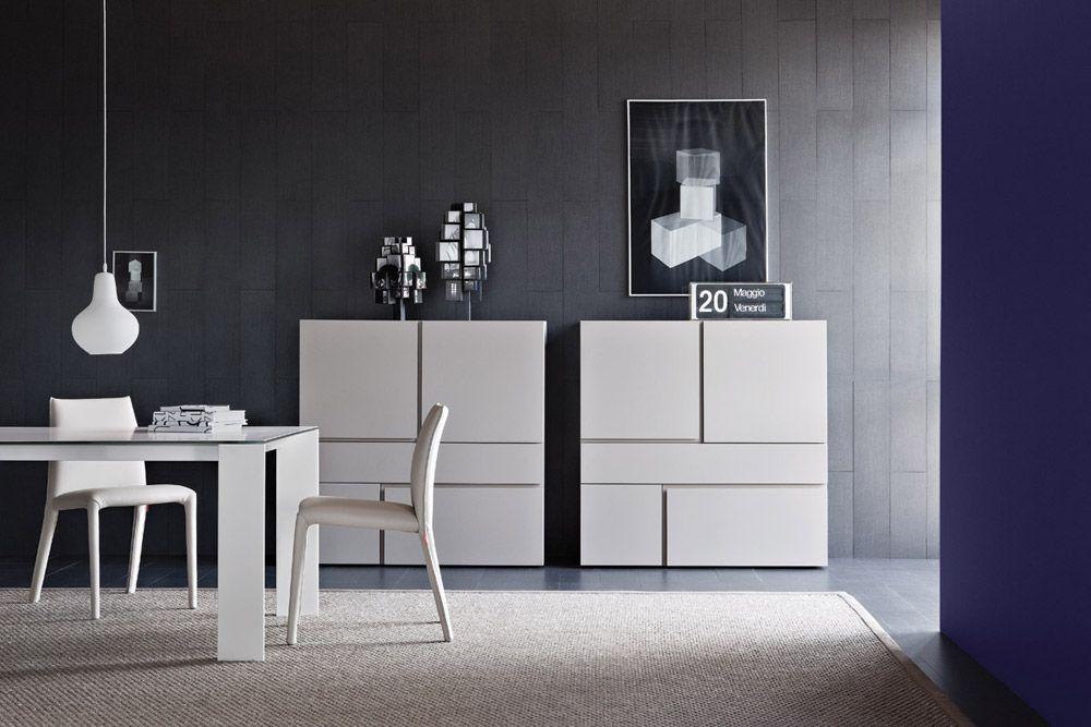 Credenza Moderna Sottile : Contenitore #quadra di @pianca design la collezione quadra