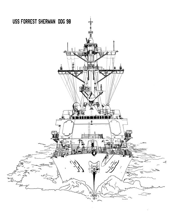 U S S Forest Sherman Ddg 98 Arleigh Burke Class Guided Missile
