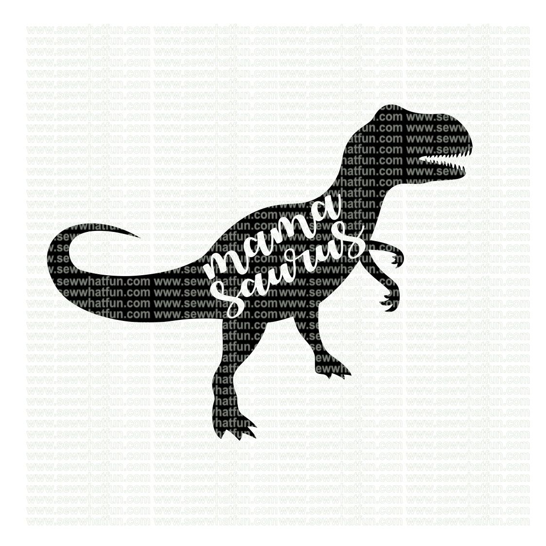 Mama Saurus Svg Cutting File Vinyl File Svg Dinosaur