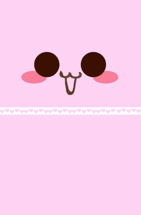 Mykawaiiwallpapers Cute Kawaii Face Iphone4 Wallpaper Kawaii Faces Iphone Wallpaper Wallpaper