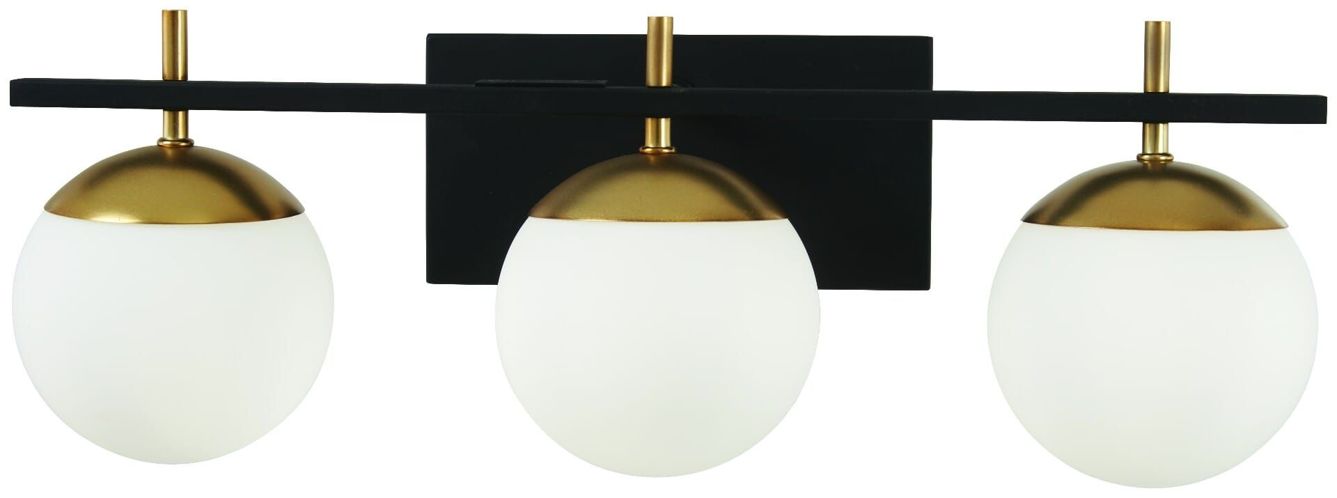Photo of George Kovacs Alluria 3-light basin lamp in weathered black