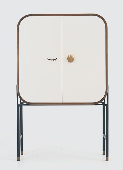 ;) Winking cupboard, great fun with style. Neat line and just the right size corner radius.
