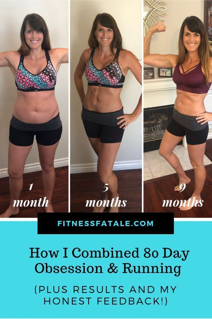 How I combined 80 Day Obsession and Running and my postpartum transformation and results. #twinmom #...