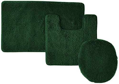 Elegant 3 Piece Bathroom Set Bath Mat Contour Rug And Lid Cover