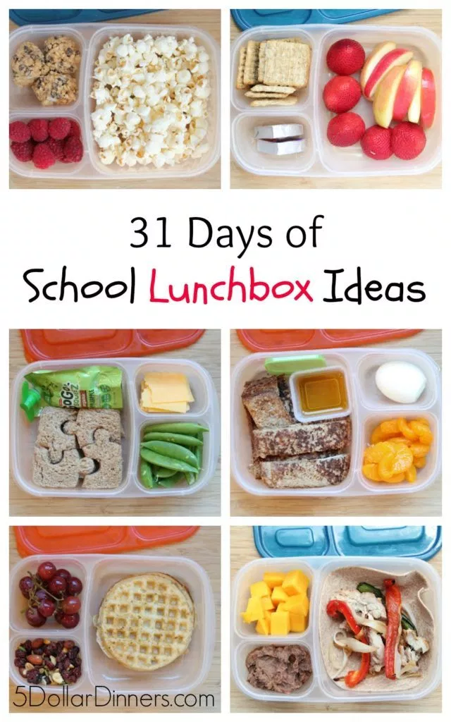 31 Days of School Lunchbox Ideas - $5 Dinners | Recipes, Meal Plans, Coupons