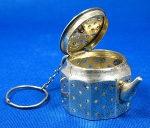 Tea Infuser Teapot Shape Sterling Silver Vintage Amcraft 1920s