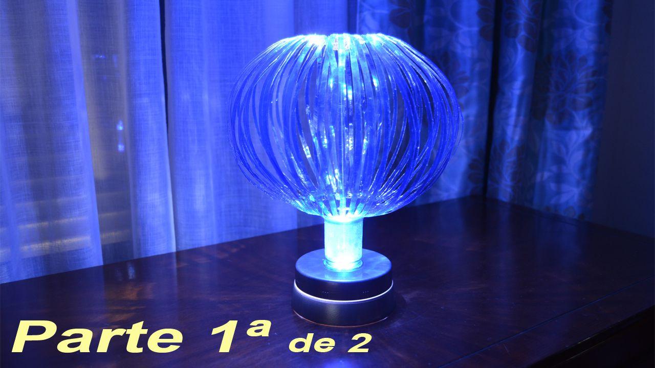 """Lámpara globo push con materiales reciclados. Parte I: Haciendo la tulipa. Una original lámpara globo es el proyecto que vamos a llevar a cabo en esta ocasión,  accionada mediante mecanismo """"push"""", y realizada prácticamente en su totalidad con materiales reciclados.  http://bricoblog.eu/lampara-globo-con-materiales-reciclados/ #Manualidades #Reciclado #Lampara #Botellas"""
